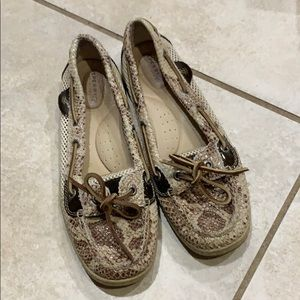 Snake Print Sperry Top Sider Boat Shoes Loafers 8